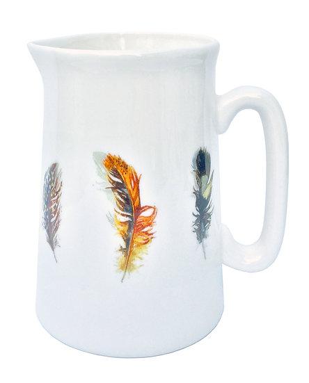 New - Feathers china jug