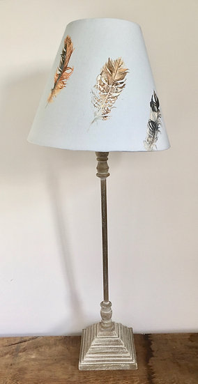 NEW Feathers Lamp - Duck Egg Blue