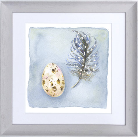 Guinea Egg and Feather