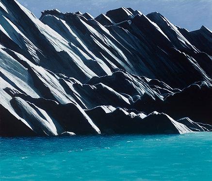 SUNLIT ROCKS AT THE BLUE LAGOON, Abereiddy, Pembs - Ref LEP73