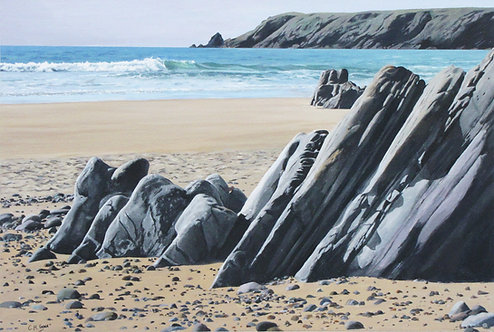SLOPING ROCKS, Marloes Sands, Pembrokeshire - Ref LEP38