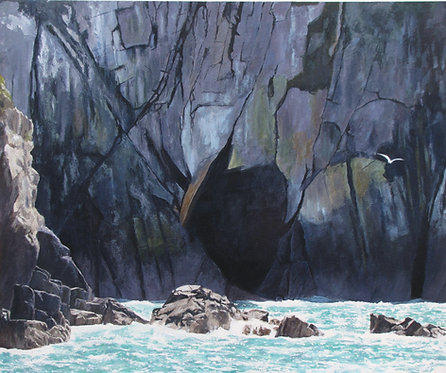 CAVE IN THE CLIFFS, Nr Strumble Head, Pembrokeshire - Ref LEP53