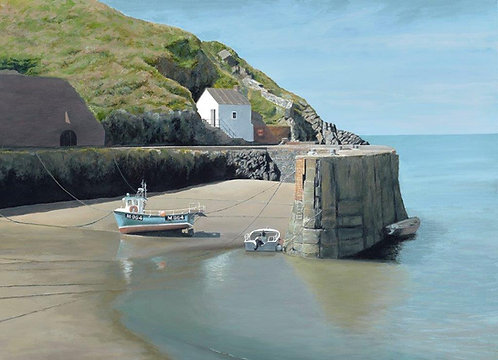 AT THE HARBOUR, Porthgain: Ref C7 - Pack of 5, or email for various oblong cards