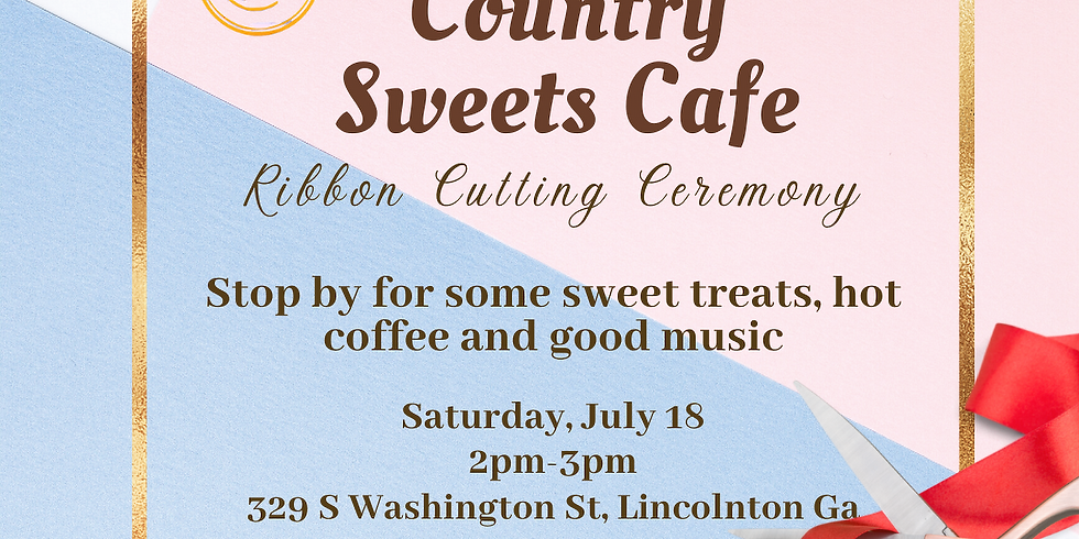 Country Sweets Cafe Ribbon Cutting