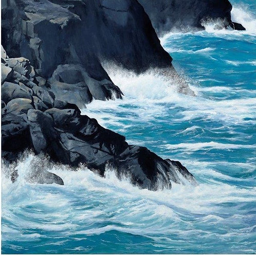 THE CLIFFS NEAR PORTHGAIN, Pembrokeshire: Ref C11 - Pack of 5, inc. UK postage