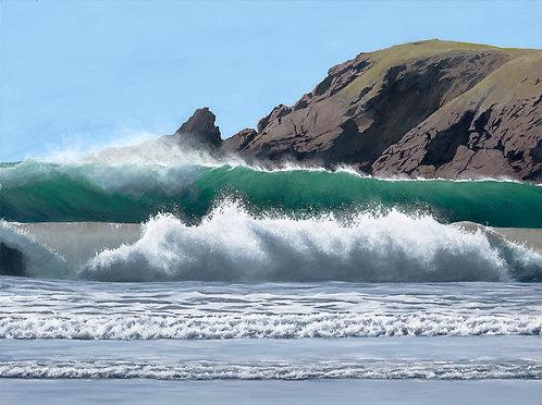 SURF BREAKERS, Marloes Sands, Pembrokeshire - Ref LEP55