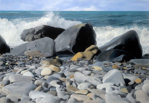 HIGH TIDE, Druidston, Pembs: Ref C9 Pack of 5, or email for various oblong cards