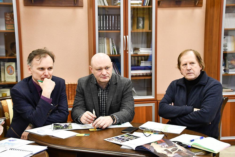 На фото Олег Николаевич Галактионов, Вадим Михайлович Костюкевич и Владимир Иванович Шевченко