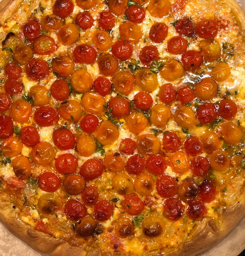 Tomato tart done