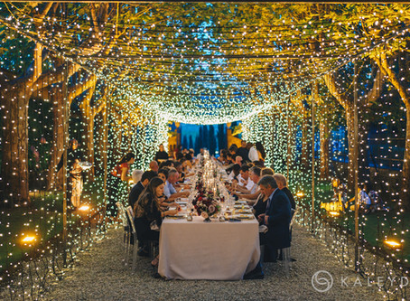 Lights, Music, Entertainment: Destination Weddings in Italy.