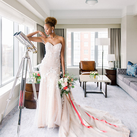 The Ritz-Carlton Wedding Inspiration, Featuring the Pantone Color of the Year 2019 - Living Coral
