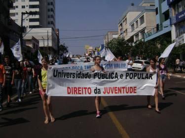 Jovens foram as ruas diversas vezes reivindicar a instalação do campus. Foto: Arquivo