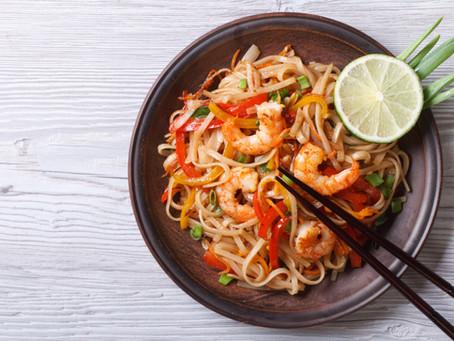 Asian shrimp noodles