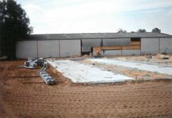 Neubau vom neuen Stall