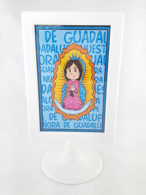 Cuadro Guadalupanita Cute - Azul