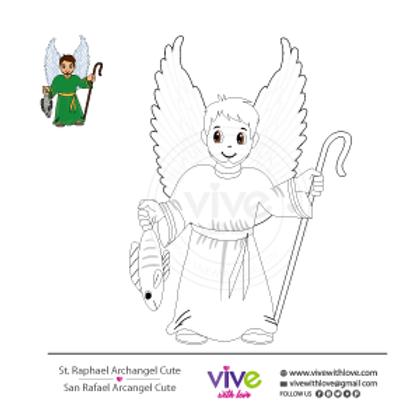 St. Raphael Archangel Cute Coloring Page