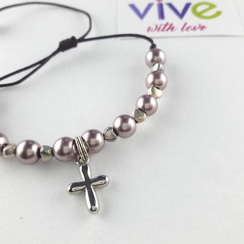 Bracelet and Rosary Heart  / Pulsera y Denario Corazòn