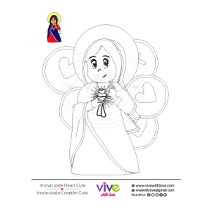 Immaculate Heart Coloring Page