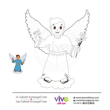 St. Gabriel Archangel Cute Coloring Page