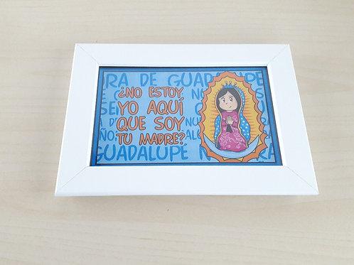 Cuadro Guadalupanita Cute Azul