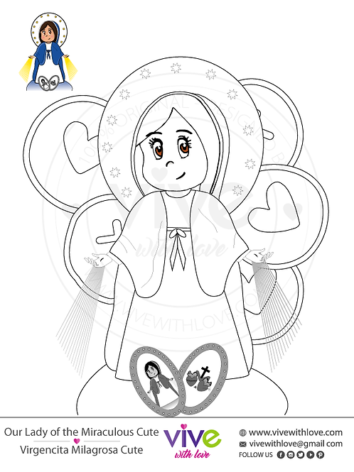 Miraculous Cute Coloring Page x 30 Units