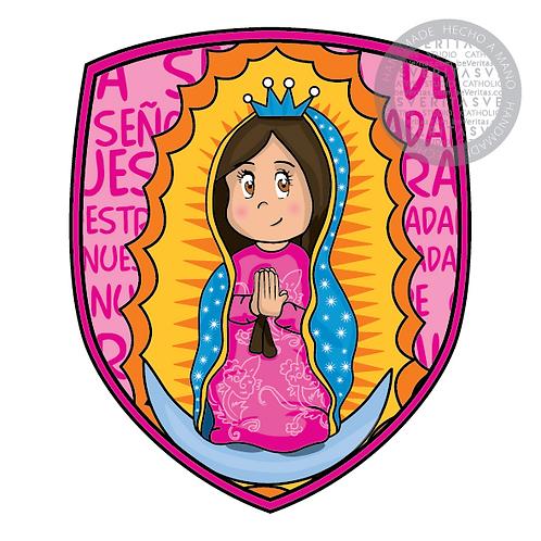 Shield of Faith Guadalupanita Cute / Escudo de Fe Guadalupanita Cute