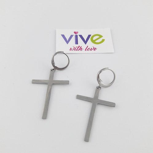 Cross Earrings / Aretes Cruz