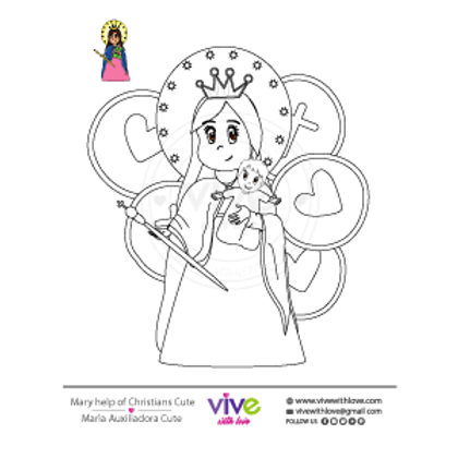 Help of Christians Cute Coloring Page x 30 Units