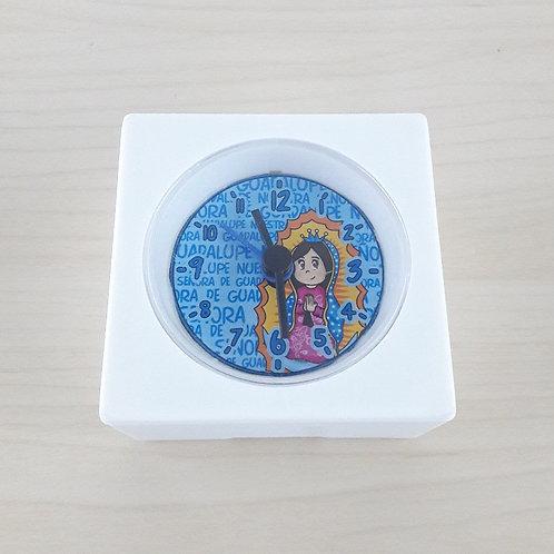 Reloj Despertador Guadalupanita Cute - Azul