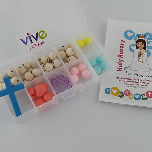 Rosary Making Kit - Heart