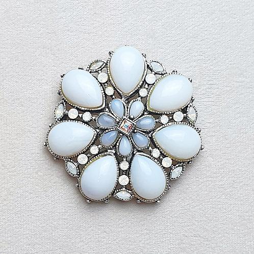 Broche FAM 300 A/White Opal