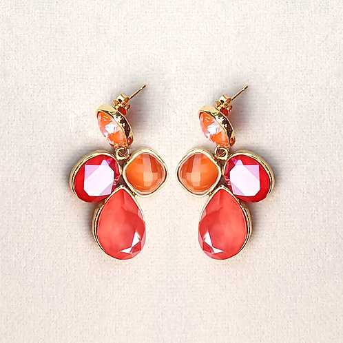 Boucles d'oreilles STON 7 D/Orange Glow