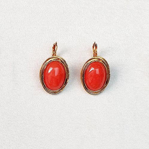 Boucles d'oreilles FAST 3 D/Terracotta