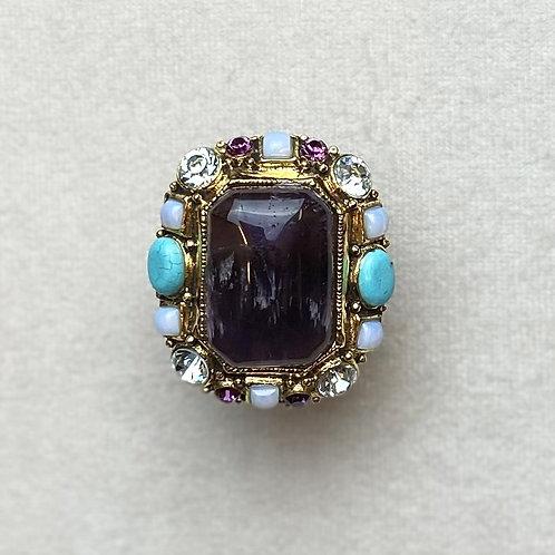 Bague MIS 603 D/Amethyst/Turquoise