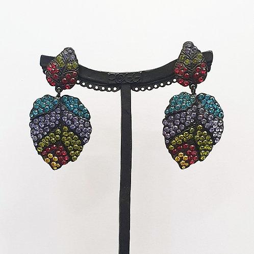 Boucles d'oreilles FRU 70 N/Olivine