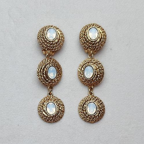 Boucles d'oreilles ELO 30 D/White Opal