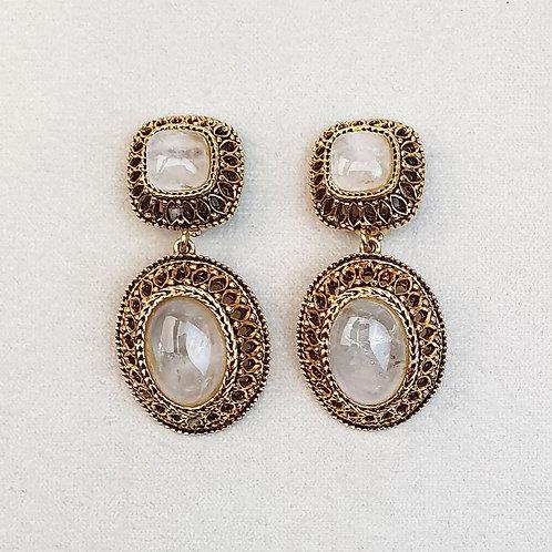 Boucles d'oreilles GLAM 53 D/Cristal de Roche