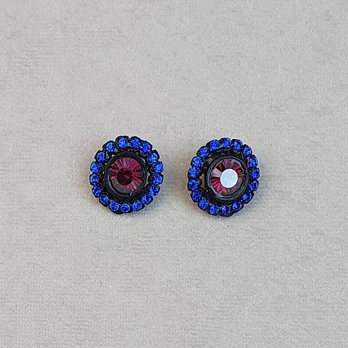 Boucles d'oreilles BAL 51 N/Rubis