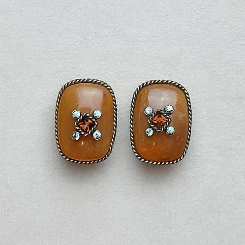 Boucles d'oreilles BEL 7 B/Ambre