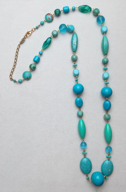 Sautoir POG 201B D/Turquoise