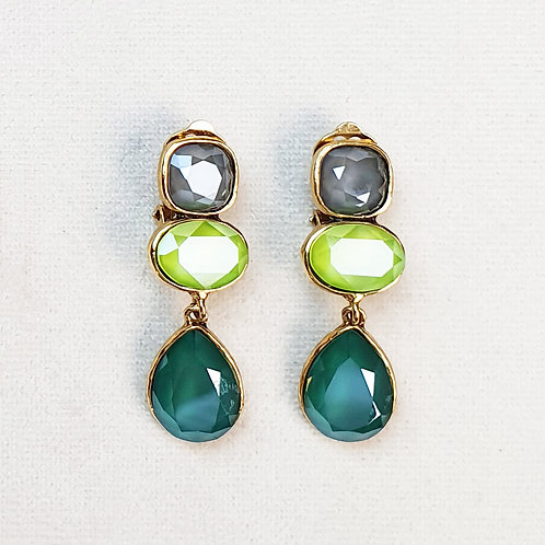 Boucles d'oreilles STON 8 D/Royal Green