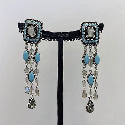 Boucles d'oreilles ODE 70 A/Turquoise