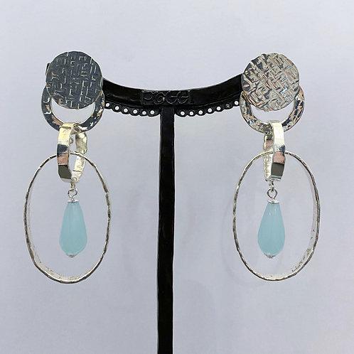 Boucles d'oreilles ART 0267P A/Bleu