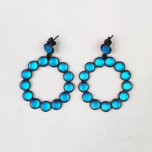 Boucles d'oreilles RAI 51 N/Satin Blue