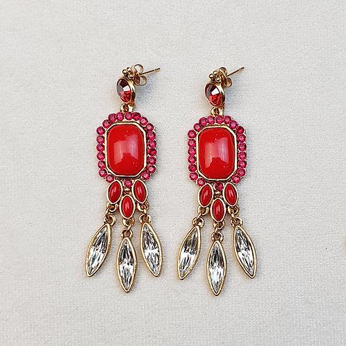 Boucles d'oreilles PAM 43 D/Rouge
