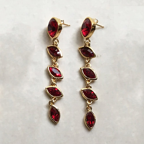 Boucles d'oreilles FAB 1 D/Rouge