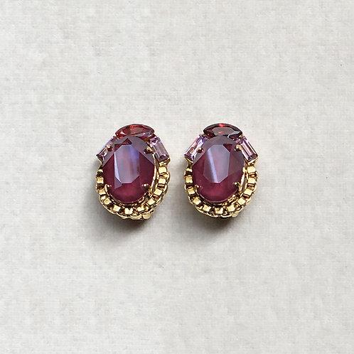Boucles d'oreilles WOW 9 D/Dark Red