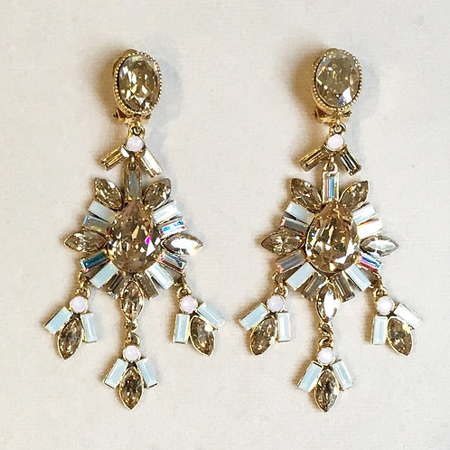 Boucles d'oreilles WOW 14 D/Golden/White Opal