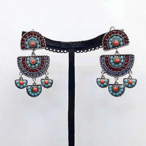 Boucles d'oreilles  BAY 17 A/Turquoise
