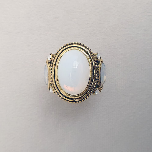 Bague TOP 602 D/White Opal